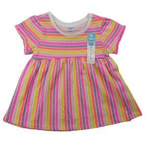 Lightning Bug Ruffle Trim Dress Toddler Girl